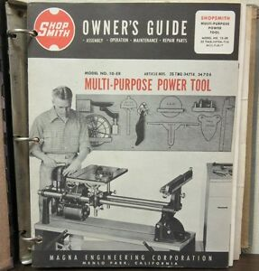 Shopsmith Owner s Guide Multi purpose Power Tool Accessory Catalog New Handyman