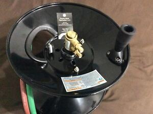 Twin Welding Hose Reel 100 Capacity W Mounting Bracket Oxygen Acetylene Manual