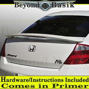 2008 2012 Honda Accord 2dr Coupe Factory Style Spoiler W led Light Primer