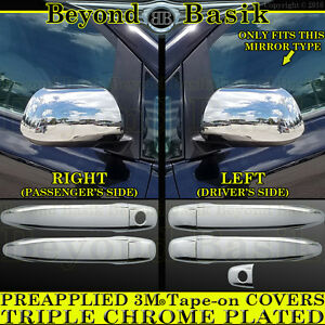 For 2012 2013 2014 2015 Toyota Tacoma Crew Chrome Door Handle Mirror Covers 4d