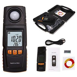 Digital Lux Light Meter Save Data Log Illuminance Tester Photography 200 000 Lux