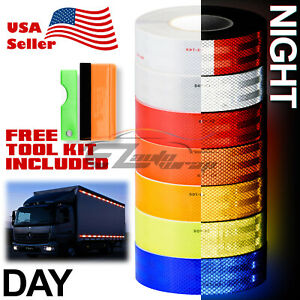 Reflective Conspicuity Tape 2in X 150ft Dot c2 Safety Warning Sign Car Truck Rv