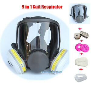 9 In 1 Chemical Painting Spray Respirator For 6800 Gas Mask Full Face Facepiece