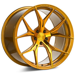20 Rohana Rfx5 Gloss Gold Concave Wheels For G35 Coupe 350z 370z