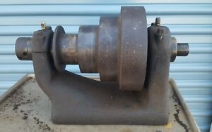 Antique 1900 s J g Blount Pattern Makers Metal Wood Lathe Head Stock
