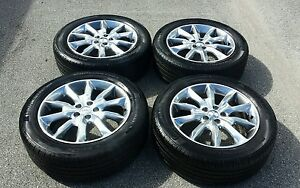 2014 2015 Jeep Cherokee Factory Oem Polished 18 Inch Wheels Rims 225 55 18 Tires