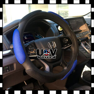 Slip On Hand Pad Buffer Cushion Suv Blue Steering Wheel Cover Protector Leather