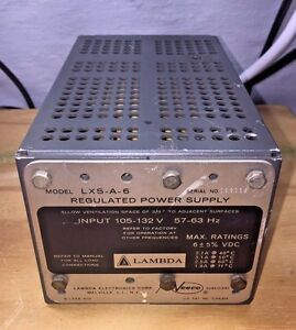 Lambda Lxs a 6 Power Supply 6 Vdc 3 7a load Tested