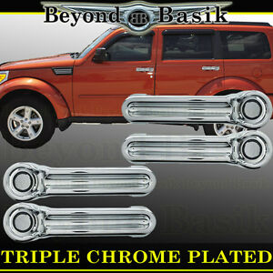 For Dodge Nitro 2007 08 2009 2010 2011 2012 Chrome Door Handle Covers Overlays
