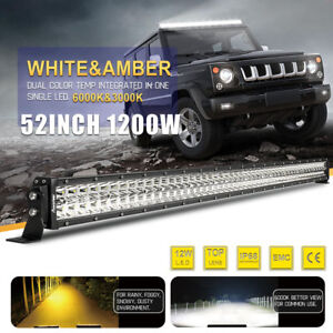 7d 52inch 1200w Led Work Light Bar Combo For Ford Offroad Suv Truck Jeep 4wd 50