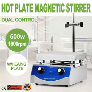 Sh 3 Hot Plate Magnetic Stirrer Mixer Stirring 1600rpm 3000ml 17 17cm