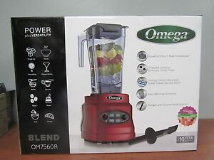 Omega Om7560r Blender 11 Speed Selector Timer And Pulse 25fl