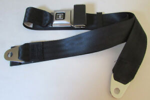 Gm Black Seat Belt Deluxe Pushbutton Non Retractable Black Lap Seat Belt 60