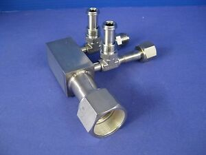 Stainless Steel Manifold W Swagelok Vcr Fittings 1 Fvcr X 1 2 Vcr New wf