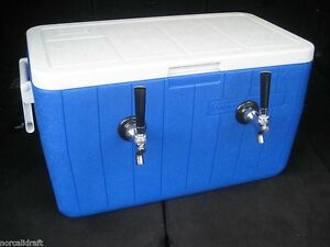 Draft Keg Two Beer Twin Stainless Coils Jockey Box Cooler Complete New