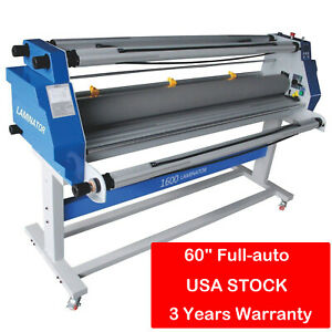 60 Inch Full auto Take Up Low Temp Large Format Hot Cold Seal Laminator Machine