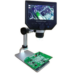 600x Digital Microscope Maintenance Electronic Video Microscope W Al alloy Stand