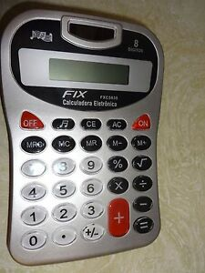 Fix Calculator 8 Digits Uses 1 Aa Battery Battery Not Included