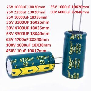 35v 50v 63v High Frequency Radial Electrolytic Capacitors 3300uf 4700uf