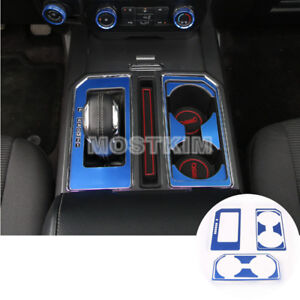 Inner Console Gear Box Water Cup Holder Trim Cover For Ford F150 F 150 2015 2019