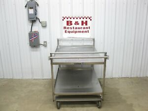 Lakeside 580 Heavy Duty Stainless Steel Mobile Utility Cart Table 45 X 31 Top