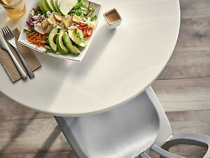Corian Tabletop Commercial Use Restaurant Solid Surface Table Top Color White