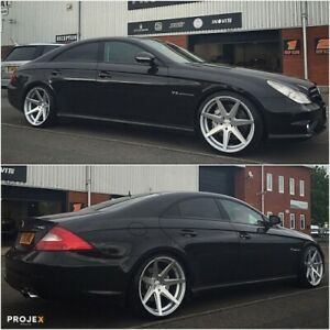19 Rohana Rc7 Machined Silver Concave Wheels For Mercedes W218 Cls400 Cls550