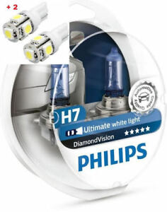 Philips Diamond Vision H7 Twin 2 Free Led T10 W5w