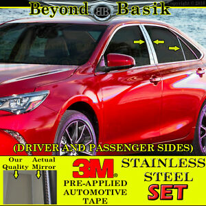 2012 2017 Toyota Camry Stainless Steel 6pc Pillar Posts Covers Overlays Trims