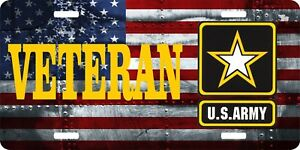 Veteran United States Army License Plate 6 X 12 Made In Usa By Veterans