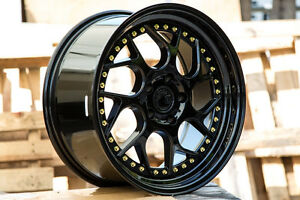 18x9 5 Aodhan Ds01 5x114 3 15 Gloss Black Non staggered set Of 4