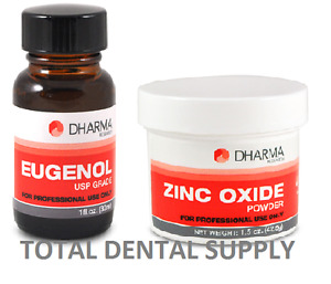 Zinc Oxide Eugenol Cement Kit 42 5 Grams Powder And 30ml Liquid For Dental Use