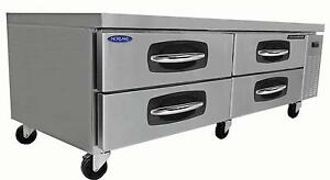 Nor lake Nlcb72 72in Four Drawer Refrigerated Chef Base Equipment Stand