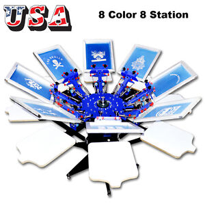 8 Color Screen Printing Press Equipment Silk Screen Printing Machine Diy Printer