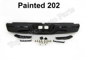 Painted 202 Black Rear Step Bumper Full Assy For 2000 2006 Tundra Std Bed