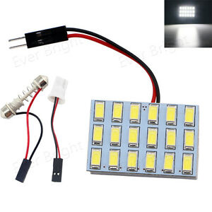 100x T10 Festoon C5w 5730 18 Smd Led Panel Lights Interior Dome Lamp White 6000k