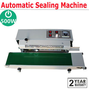 Professional Auto Horizontal Continuous Plastic Bag Band Sealing Sealer Machine