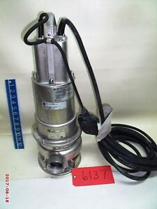 Ebara 50dwxav6 755 Sump Pump V 115 Hz 60 Hp 1 Ph 1 Free Shipping