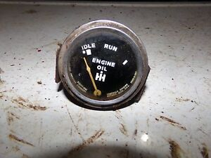 Farmall H Tractor Oil Gauge 2