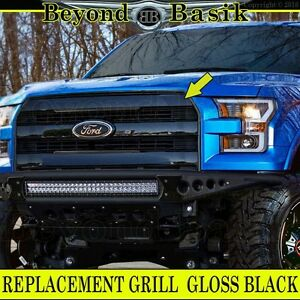 2015 2016 2017 Ford F150 F 150 Gloss Black Grille Grill Oe King Ranch Style