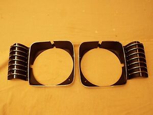1969 1970 1971 1972 Chevrolet Nova Chevy Ii New Headlight Headlamp Bezels Pair