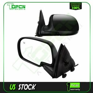 For Avalanche Suburban Tahoe Yukon Xl Power Heated Side Mirrors Pair Signal