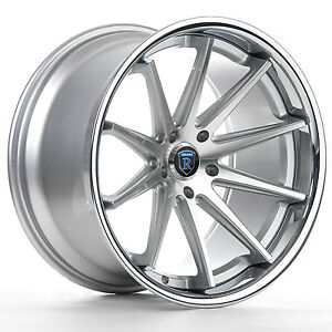19 Rohana Rc10 Machined Silver Concave Wheels For Altima Maxima Camry Accord