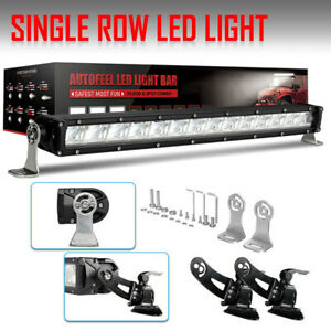 Curved 52inch Led Light Bar Combo 32 4 Cree Pods Offroad Suv 4wd Ford Jeep