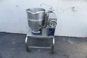 Groen 40 Quart Qt Kettle Jacketed Crank Tilt Tdbc 40 480 Volt On Wheels