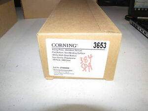New Corning 384 well Nbs Low Volume White Assay Plates pk25 cat 3653