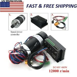 400w 12000rpm Er11 Brushless Spindle Motor Driver Speed Controller Engraving Cnc
