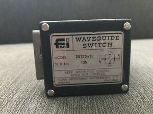 Fmi Flann Microwave Wr42 18 26 5 Ghz Two Ways Waveguide Switch Relay 20333 2e