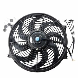 14 Inch Universal Slim Pull Push Racing Electric Radiator Engine Cooling Fan