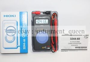Hioki 3244 60 Card Hitester Digital Multimeter Auto ranging Power Saving new